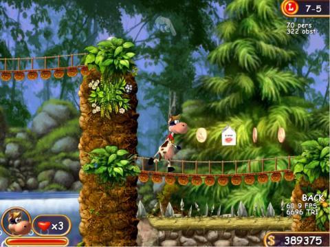 Супер Корова. Скриншот игры - 2
