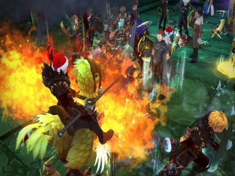 Битва, скриншот игры - Royal Quest
