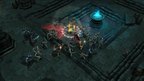 Бой с врагами. Скриншот игры - Drakensang Online
