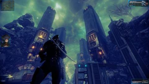Одно из заимствований из Mass Effecta 3 - холодная стилистика, маскирующая недостатки графики.