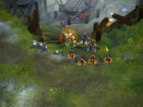 Группа. Скриншот игры - Royal Quest