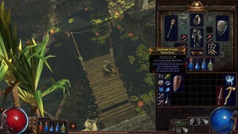 Инвентарь. Скриншот игры - Path of Exile