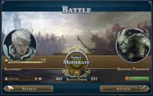 Перед битвой Battle Power показывает силы армий
