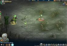 Экран битвы, на минимальных настройках графики